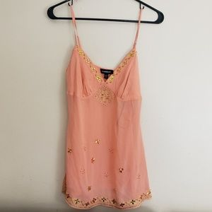 Bebe Jewel Embellished Tank Top Sz Small E8